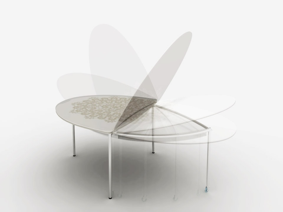 bianchini e lusiardi -biplano-folding- dining table-movement