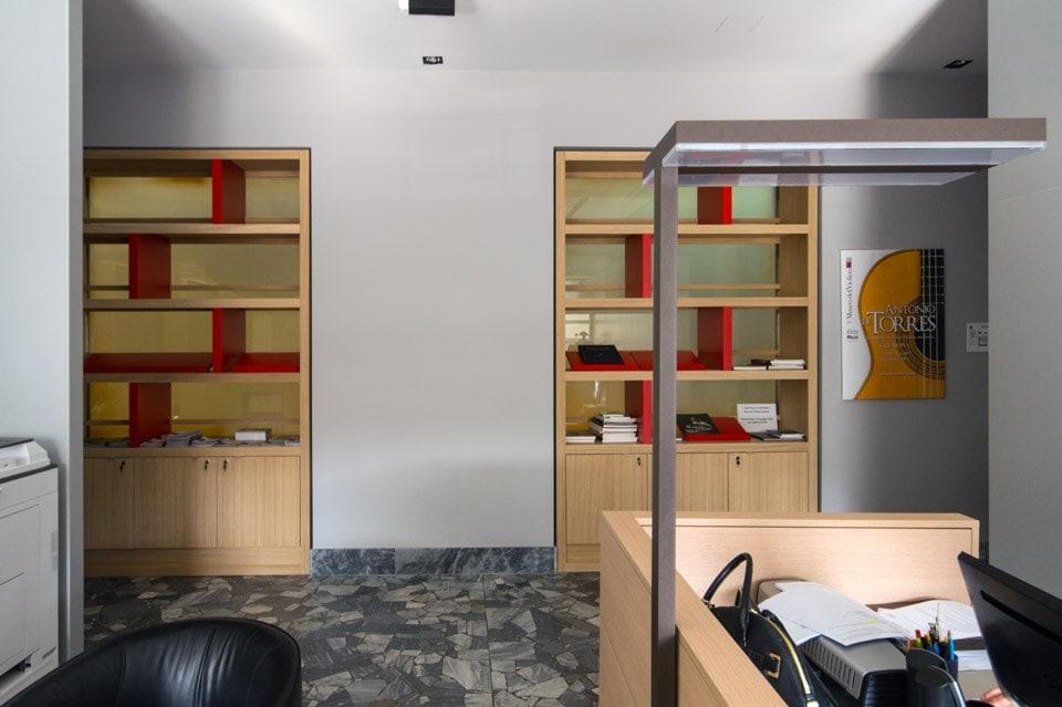 interior design reception uffici Museo del Violino Cremona Bianchini Lusiardi 02