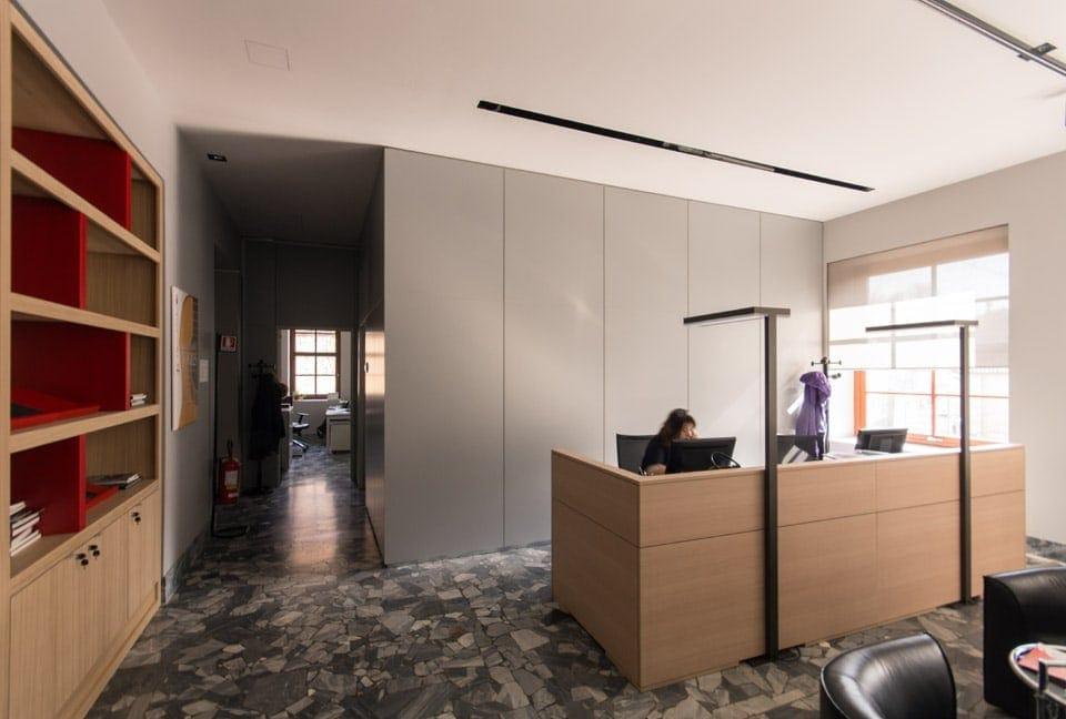 interior design reception uffici Museo del Violino Cremona Bianchini Lusiardi 03
