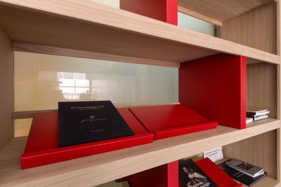 interior design reception uffici Museo del Violino Cremona Bianchini Lusiardi 05