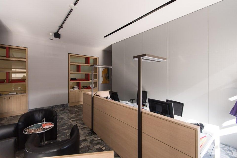interior design reception uffici Museo del Violino Cremona Bianchini Lusiardi 06