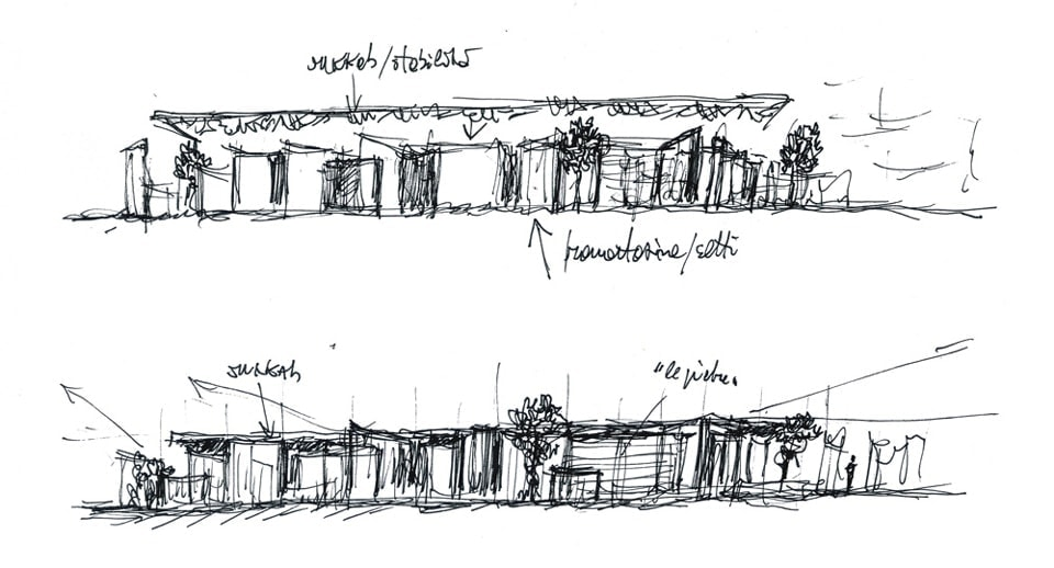 Villa Emma Jewish children museum & memorial Nonantola Bianchini & Lusiardi Associati sketches